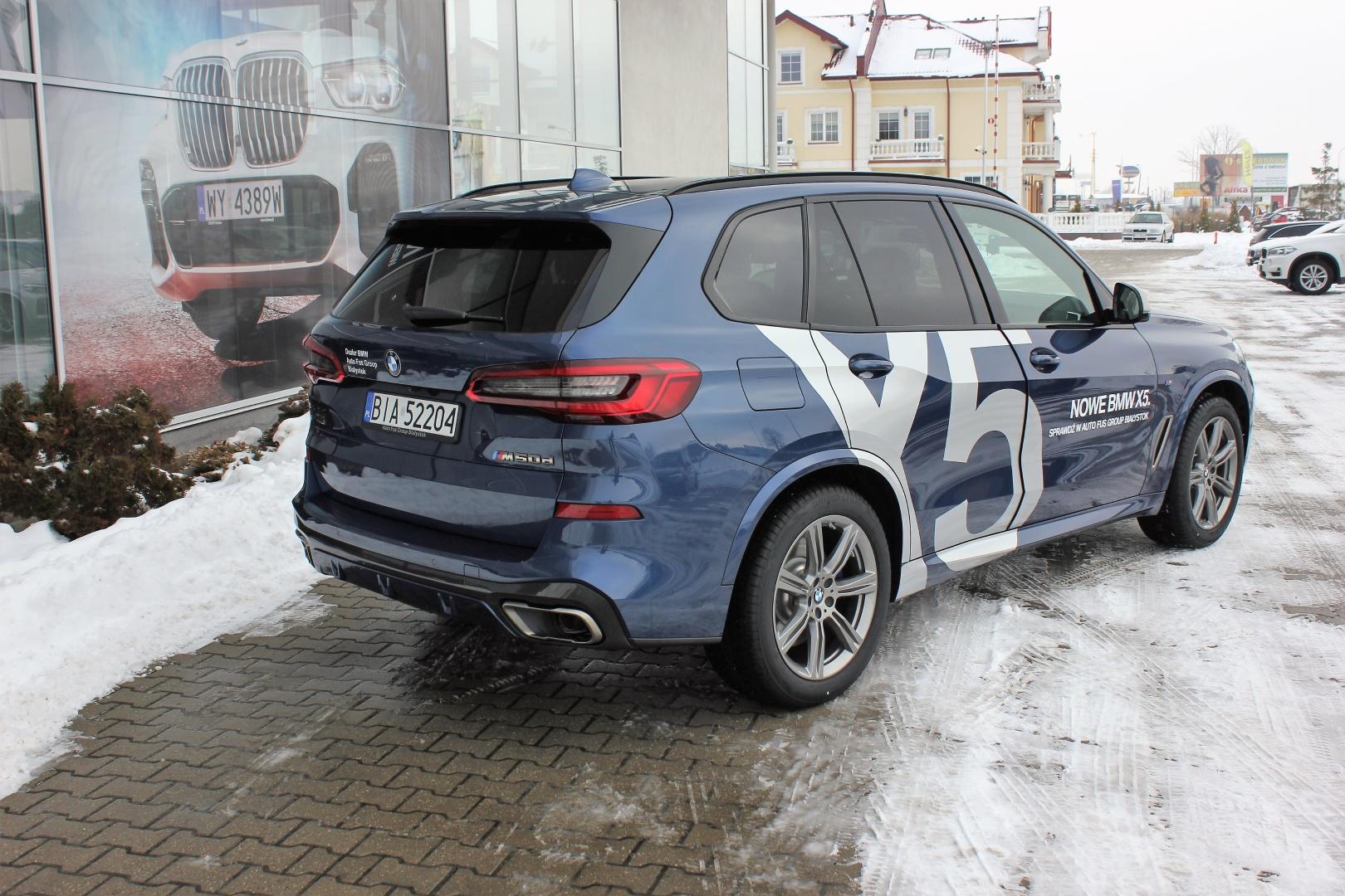 Bmw X5 M50d Niebieski Dealer Bmw Auto Fus Group Białystok